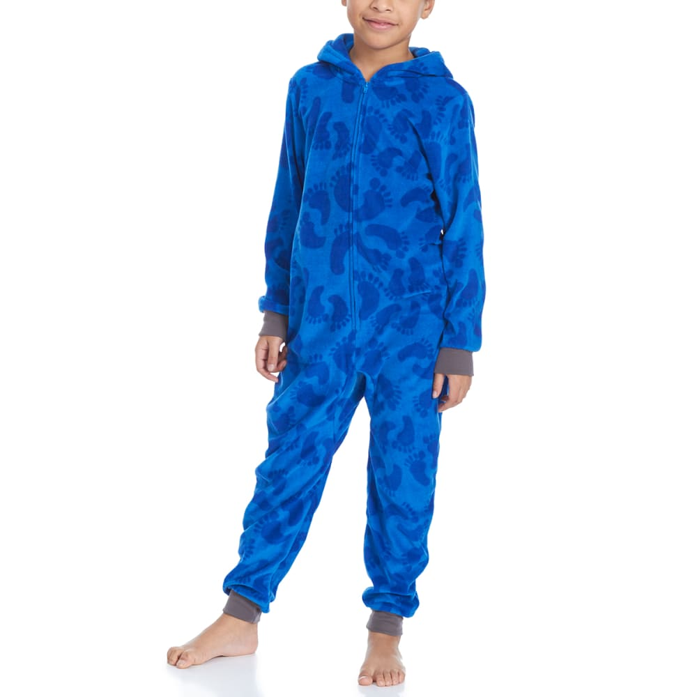 KOMAR Big Boys' Yeti Blanket Sleeper Pajamas - BLUE PRINT