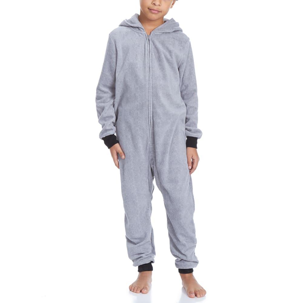 KOMAR Big Kids' Raccoon Blanket Sleeper Pajamas - GREY RACCON