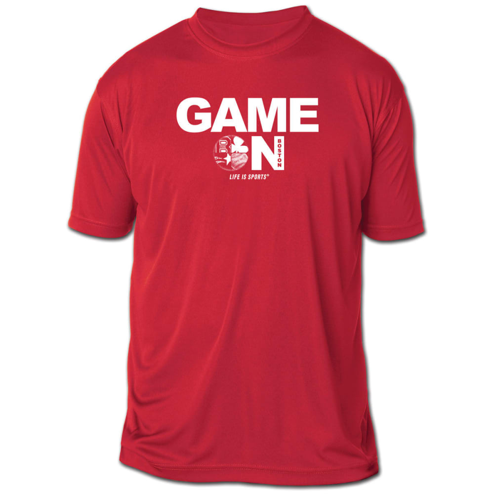 LIFE IS SPORTS Men's Game On Boston Short-Sleeve Tee - RED