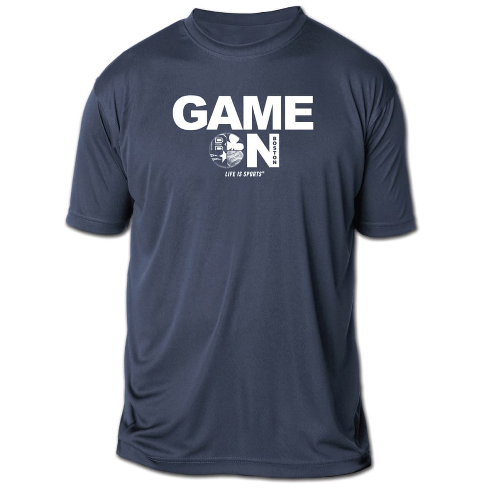 LIFE IS SPORTS Men's Game On Boston Short-Sleeve Tee - NAVY