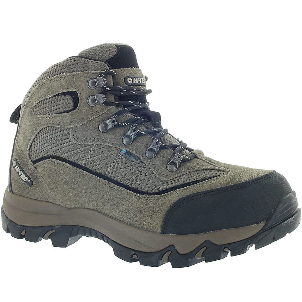 HI-TEC Men's Skamania Mid Waterproof Hiking Boots, Smokey Brown - SMOKEY BROWN/OLIVE