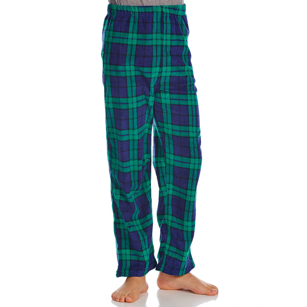 KOMAR Big Boys' Print Sleep Pants - NAVY PLAID