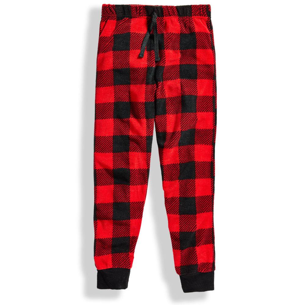 KOMAR Big Boys' Red Check Sleep Pants - RED BUFFALO CHECK