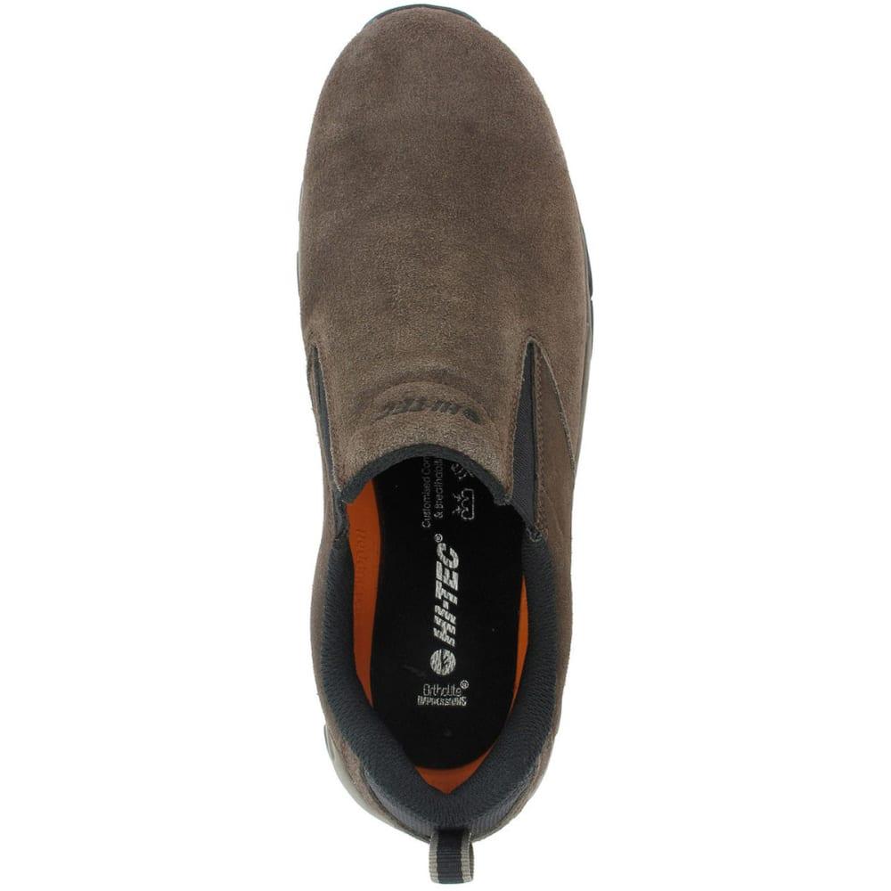 HI-TEC Men's Altitude Moc Suede Casual Shoes, Chocolate, Wide - DK CHOCOLATE