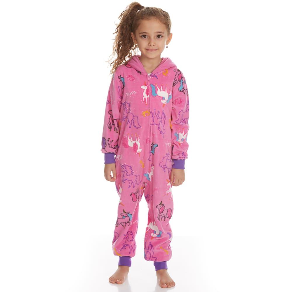 KOMAR Girls' Unicorn Blanket Sleeper Pajamas - PINK