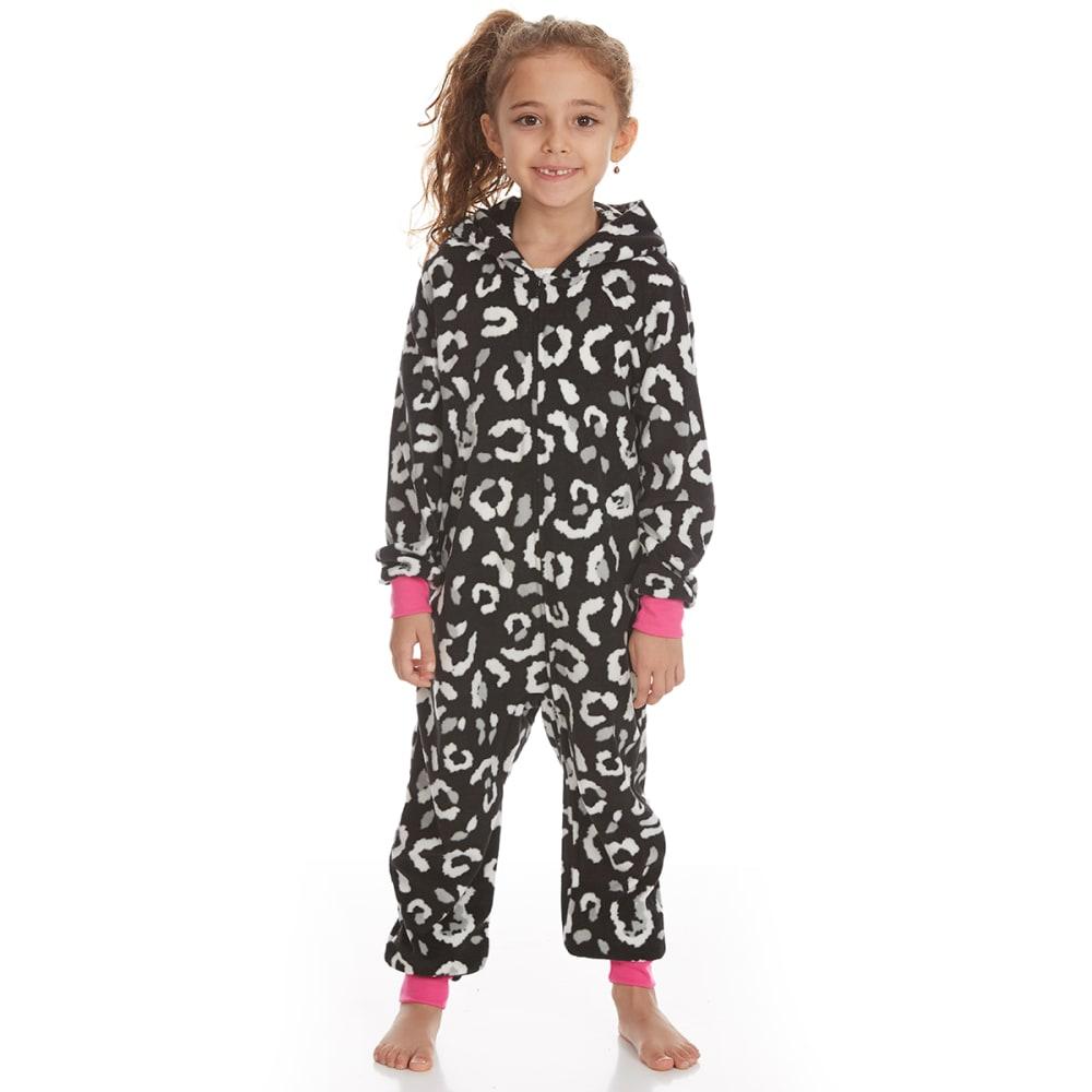 KOMAR Girls' Cat Blanket Sleeper Pajamas - BLACK