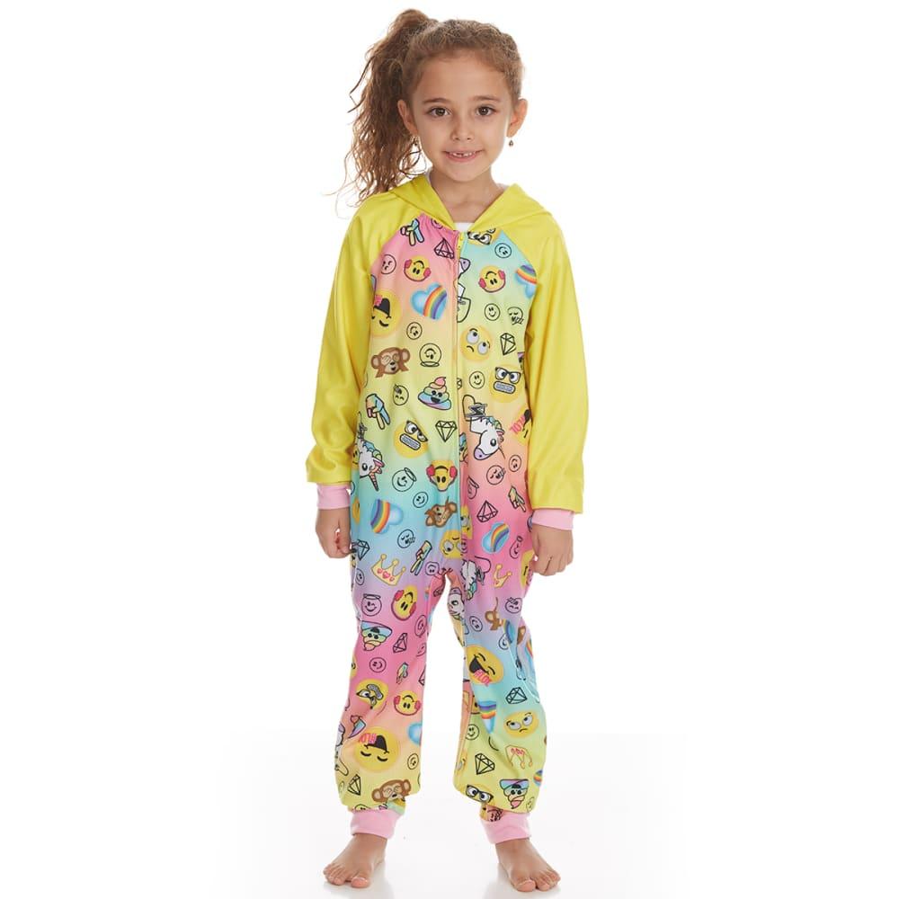 KOMAR Girls' Emojination Blanket Sleeper Pajamas - ASST