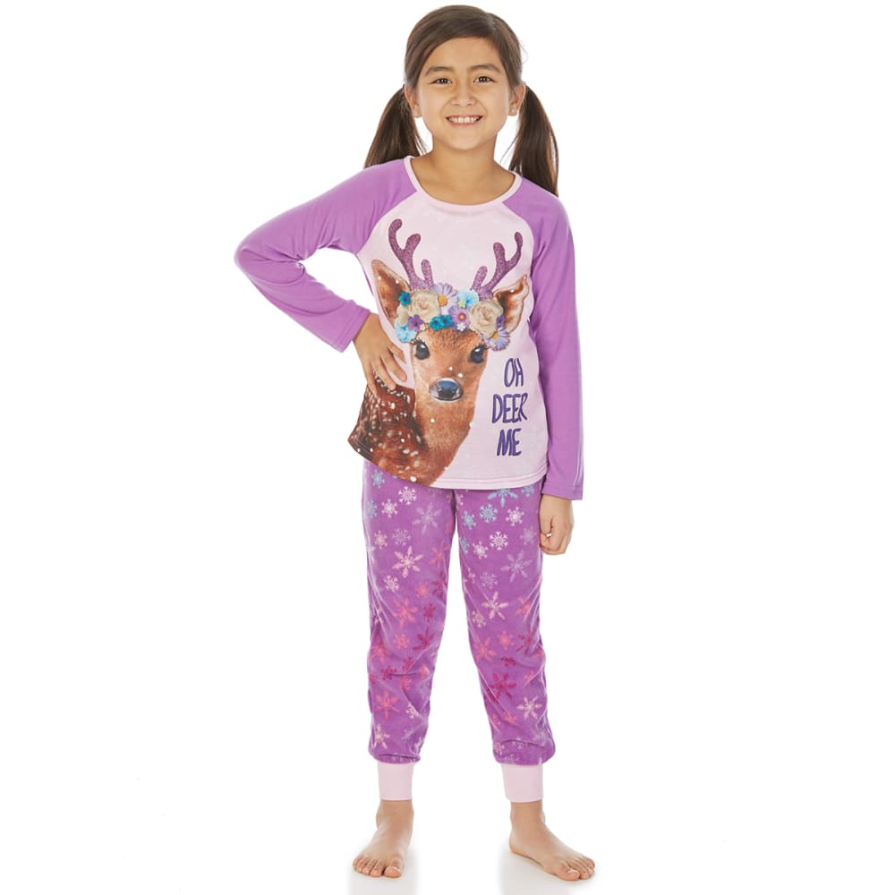 KOMAR Girls' Deer Me 4D Sleep Set, 2 Piece - ASST