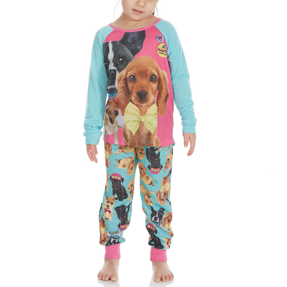 KOMAR Girls' Puppy 4D Sleep Set, 2 Piece - TURQUOISE