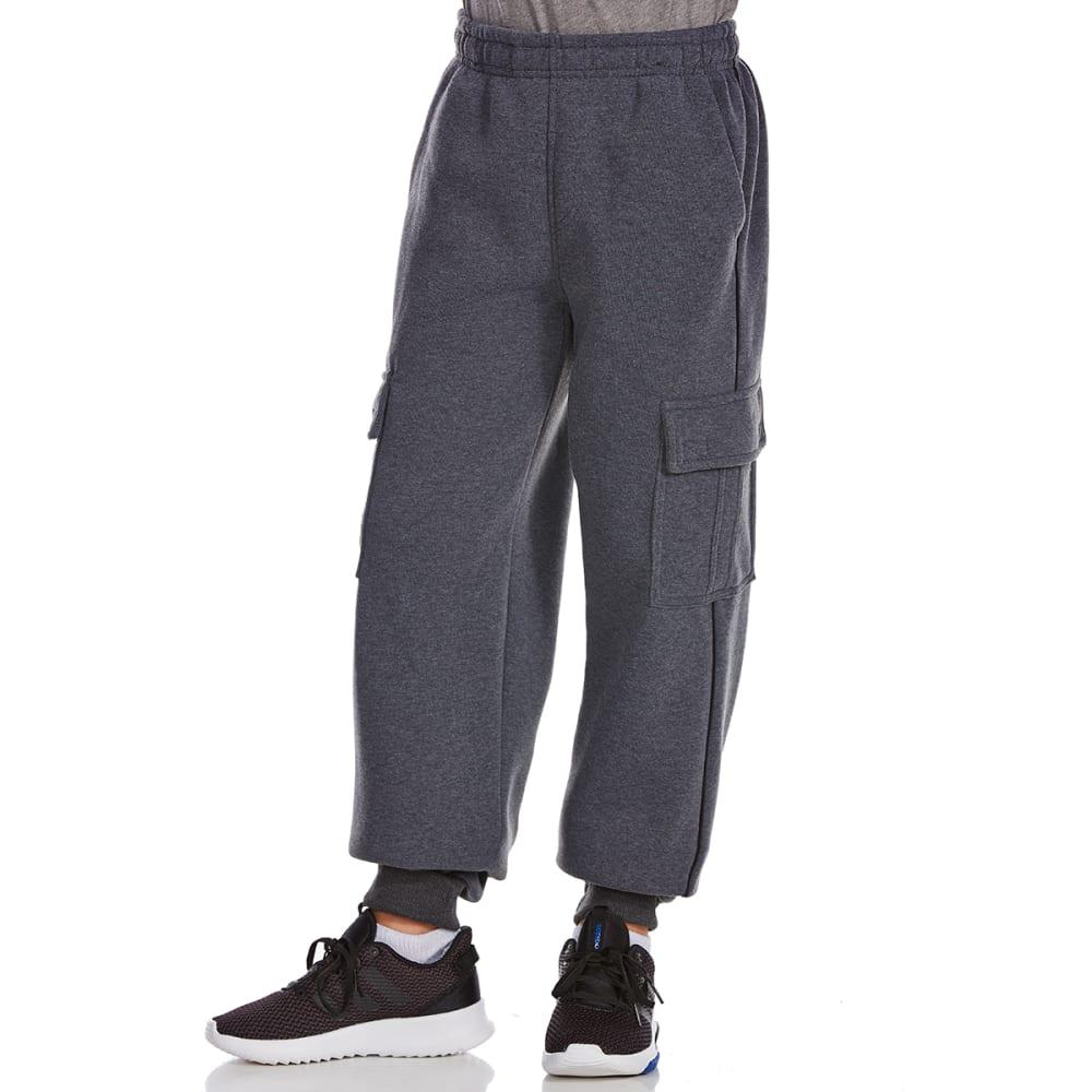 NOTHING BUT NET Big Boys' Fleece Cargo Pants - DARK GREY HEATHER