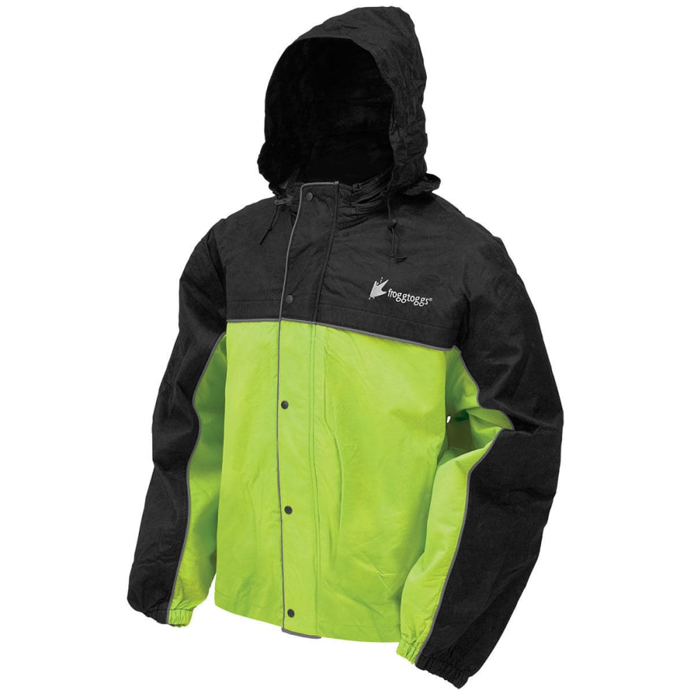 FROGG TOGGS Men's Road Toad Reflective Work Jacket - FLOR LIME/BLACK