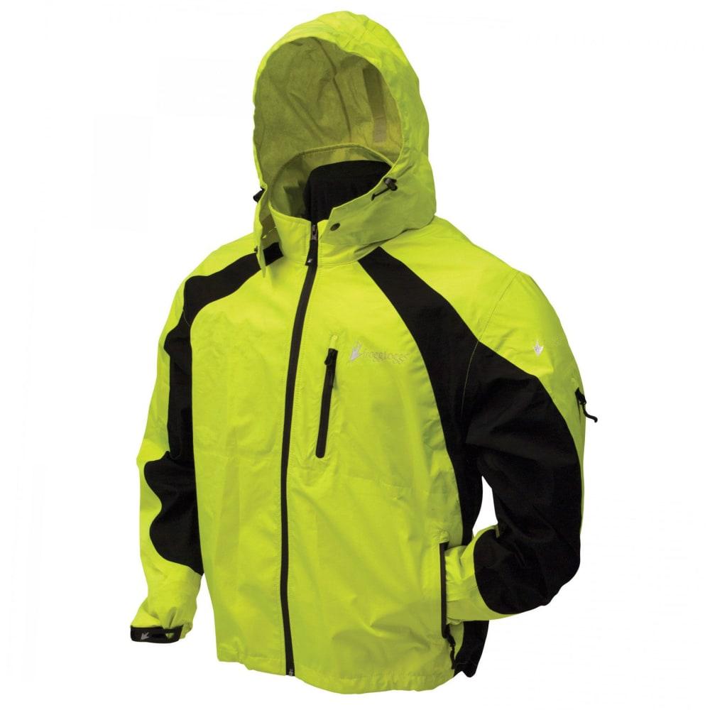 FROGG TOGGS Men's Toadz Kikker II Reflective Rain Jacket - BLACK/HI VIS LIME
