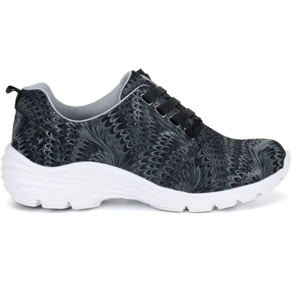 NURSE MATES Women's Align Velocity Nursing Shoes, Black Swirl 6