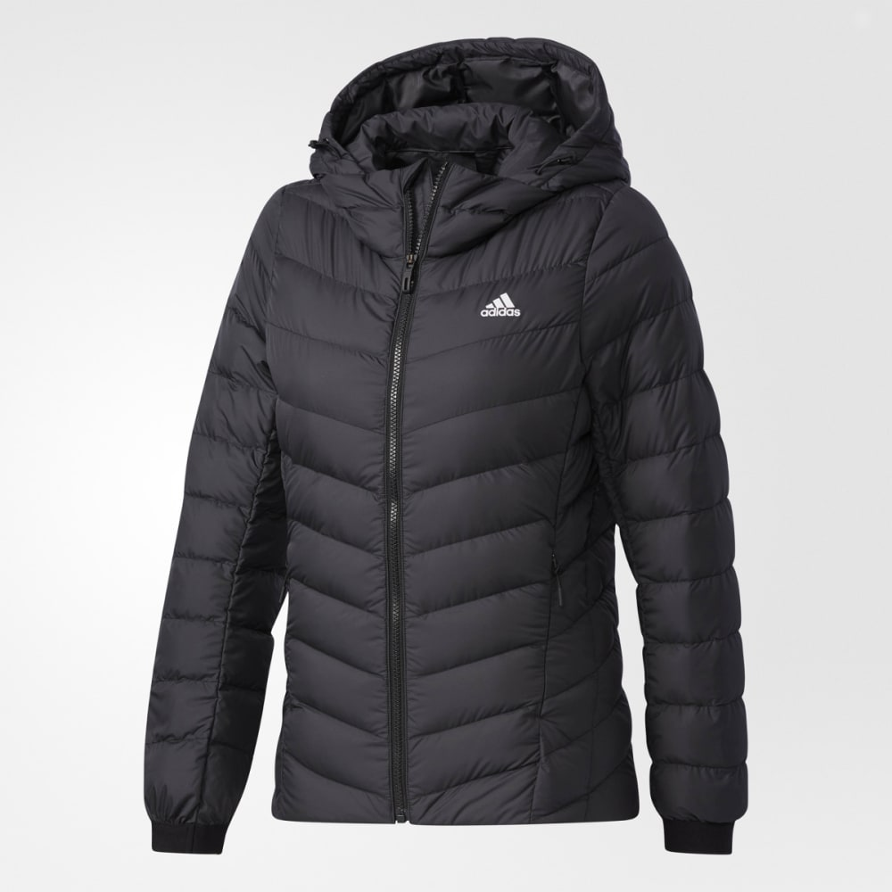 ADIDAS Women's Climawarm Nuvic Hooded Down Jacket - BLACK/BLACK
