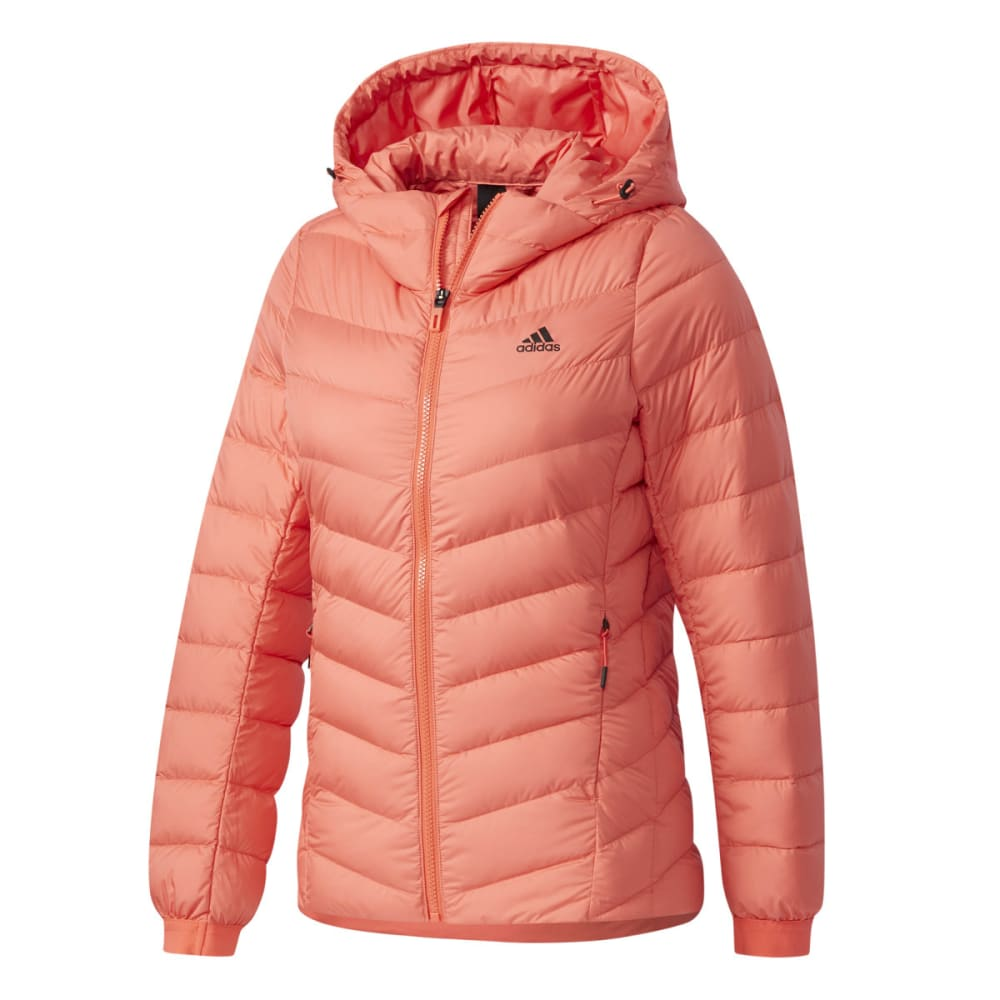 Adidas Women's Climawarm Nuvic Hooded Down Jacket - Red, S