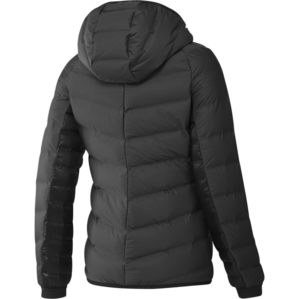 ADIDAS Women's Nuvic Conextbaffules Hooded Down Jacket - BLACK/WHITE