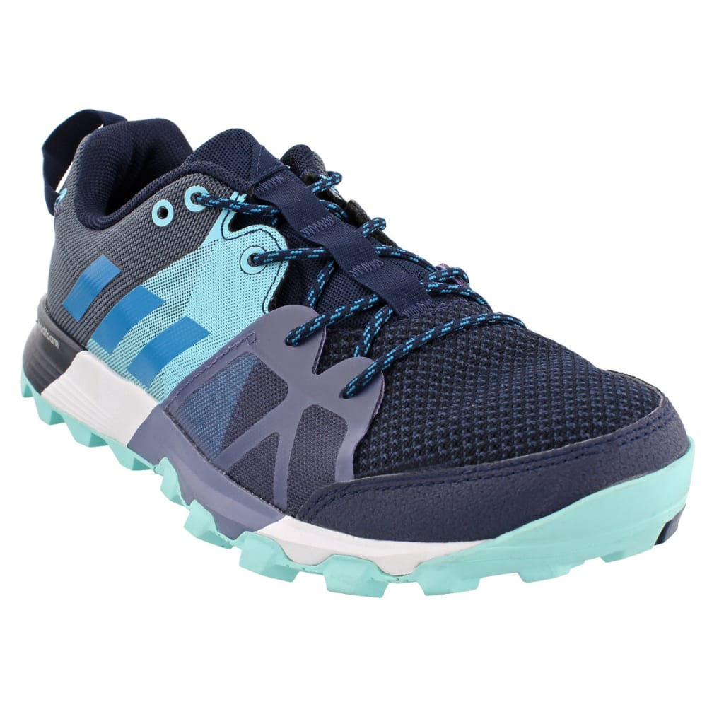 ADIDAS Women's Kanadia 8.1 Trail Running Shoes, Collegiate Navy/Mystery Petrol/Energy Aqua - NAVY/PETROL/AQUA