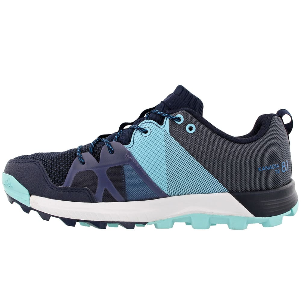 ADIDAS Women's Kanadia 8.1 Trail Running Shoes, Collegiate Navy/Mystery Petrol/Energy Aqua - NAVY/PETROL/AQUA