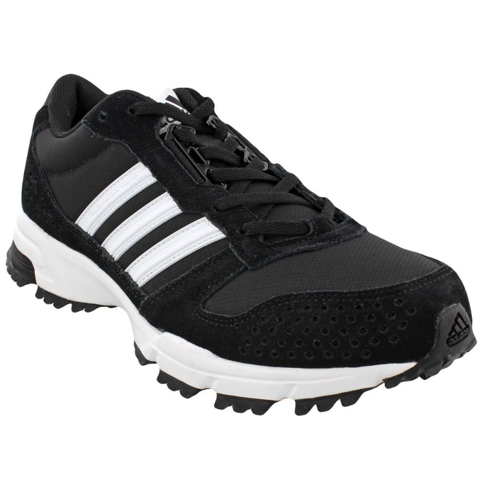 ADIDAS Men's Marathon 10 Trail Running Shoes, Black/White/White - BLACK/WHITE/WHITE