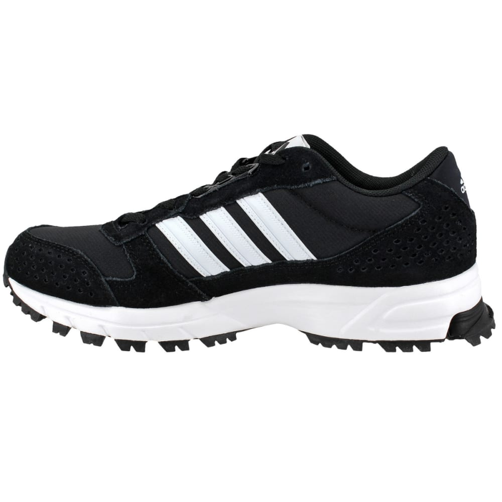 Adidas Men's Marathon 10 Trail Running Shoes, Black/white/white