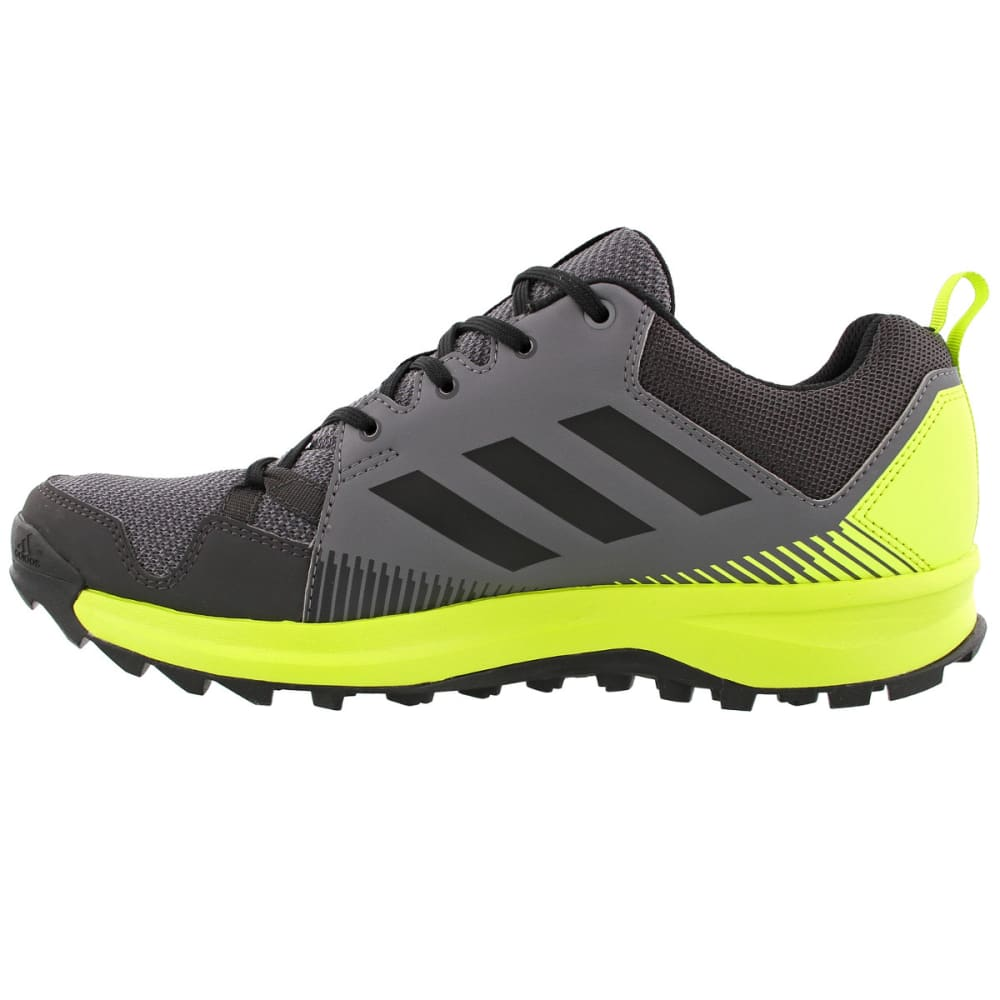 ADIDAS Men's Terrex Tracerocker Trail Running Shoes, Grey Four/Black/Semi Solar Yellow - GREY/BLACK/YELLOW