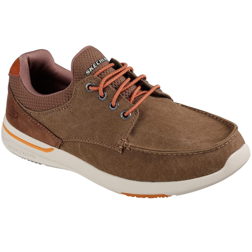 SKECHERS Men's Relaxed Fit: Elent – Mosen Boat Shoes - LIGHT BROWN