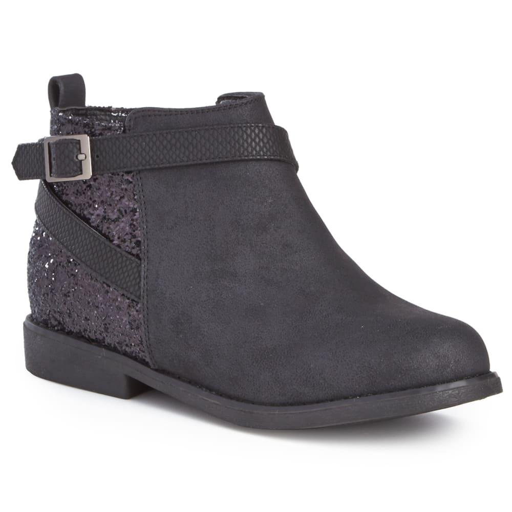 OLIVIA MILLER Girls' Glitter Ankle Boots - BLACK