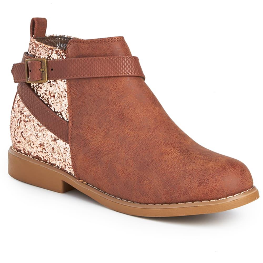 OLIVIA MILLER Girls' Glitter Ankle Boots - BLUSH