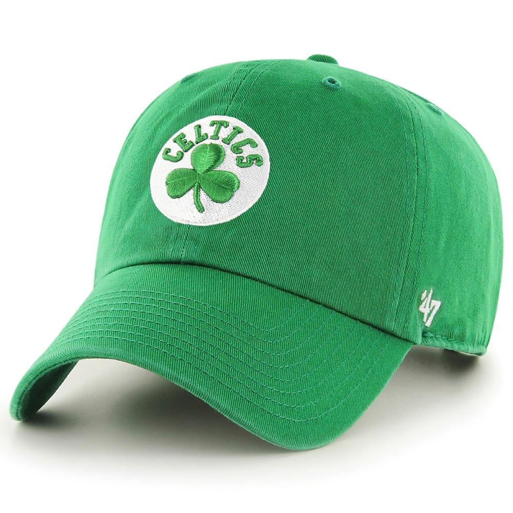 BOSTON CELTICS Men's '47 Clean Up Adjustable Cap, Kelly Green ONE SIZE