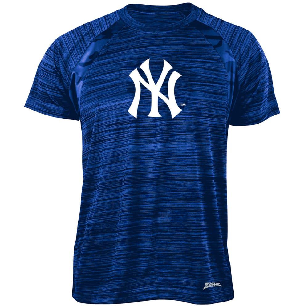NEW YORK YANKEES Men's Tonal Camo Space-Dye Short-Sleeve Tee - BLUE