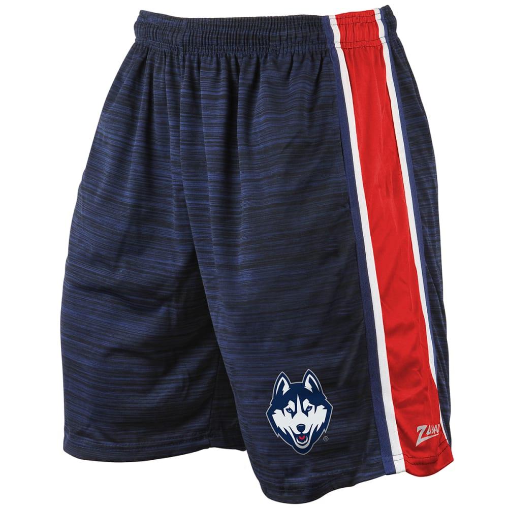UCONN Men's Space-Dye Side Stripe Synthetic Shorts - BLUE