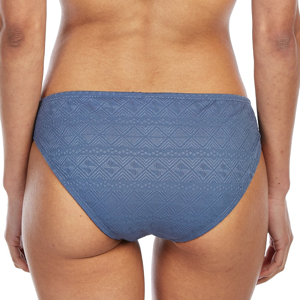 99 DEGREES Juniors' Sunday Morning Strappy Bikini Bottoms - VINTAGE INDIGO