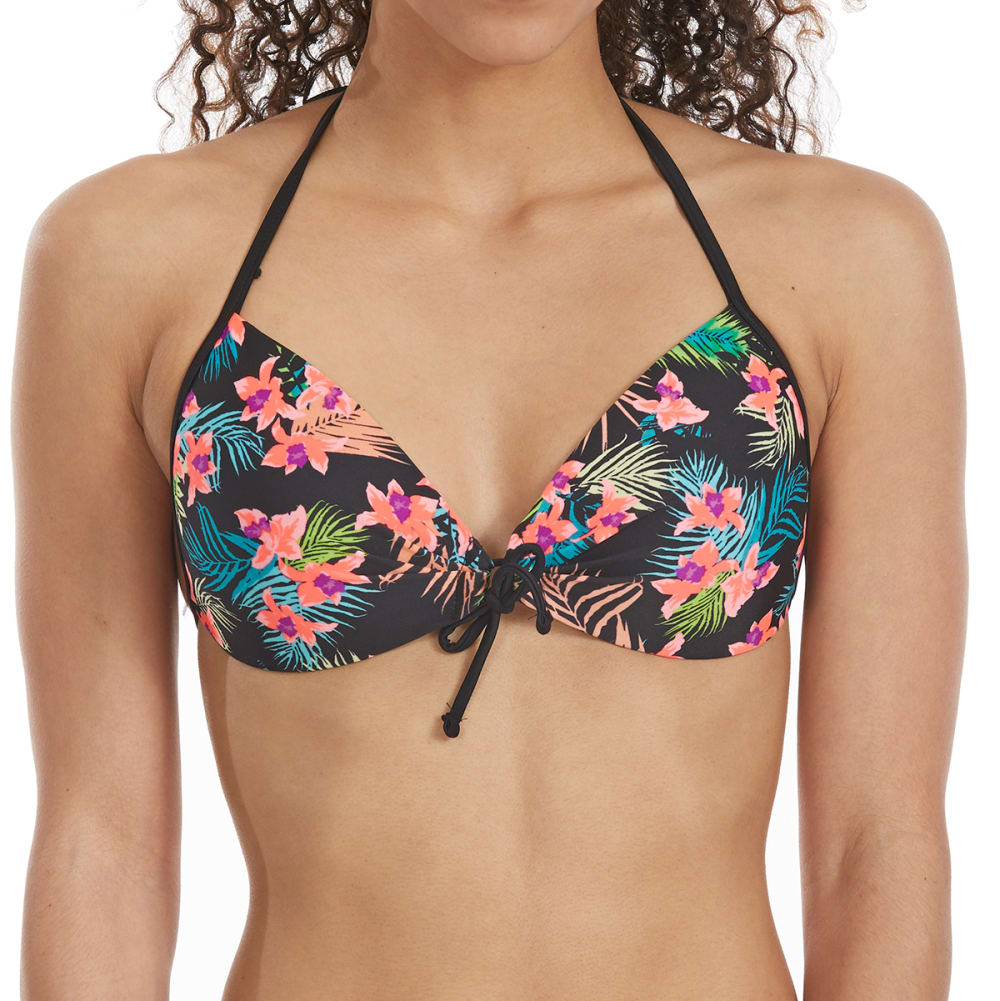 HOT WATER Juniors' San Juan Push-Up Bikini Top - MULTI