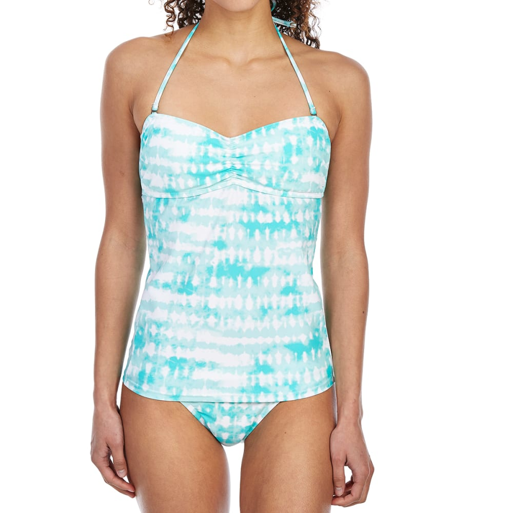 HOT WATER Juniors' High-Tide Tie-Dye Bandeaukini Top - WAK-WAIKIKI