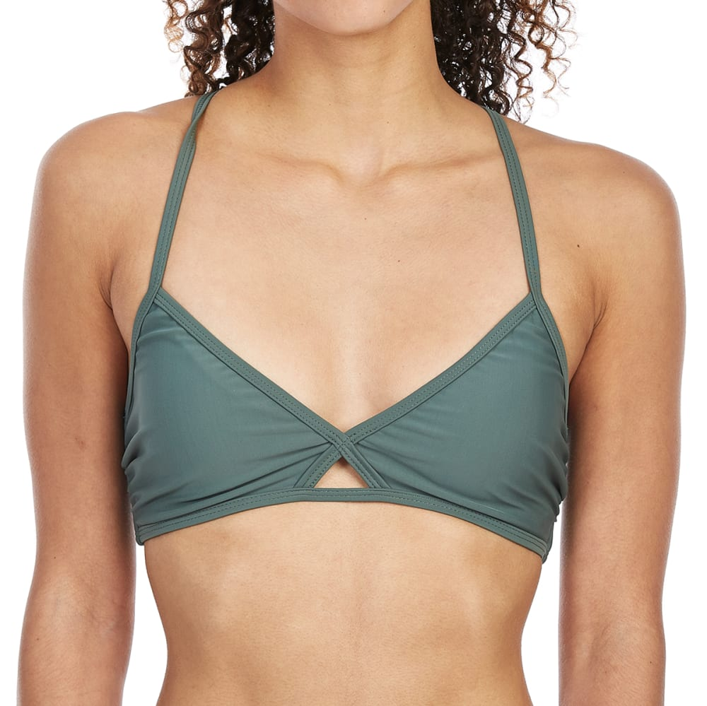 HOT WATER Juniors' Bralette Bikini Top - ARM-ARMY