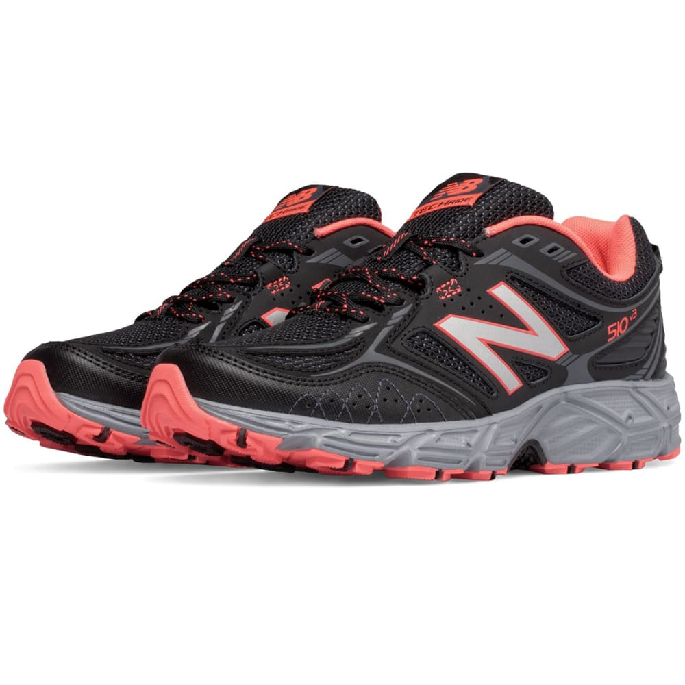 NEW BALANCE Women's 510v3 Trail Running Shoes, Black/Peach - BLACK