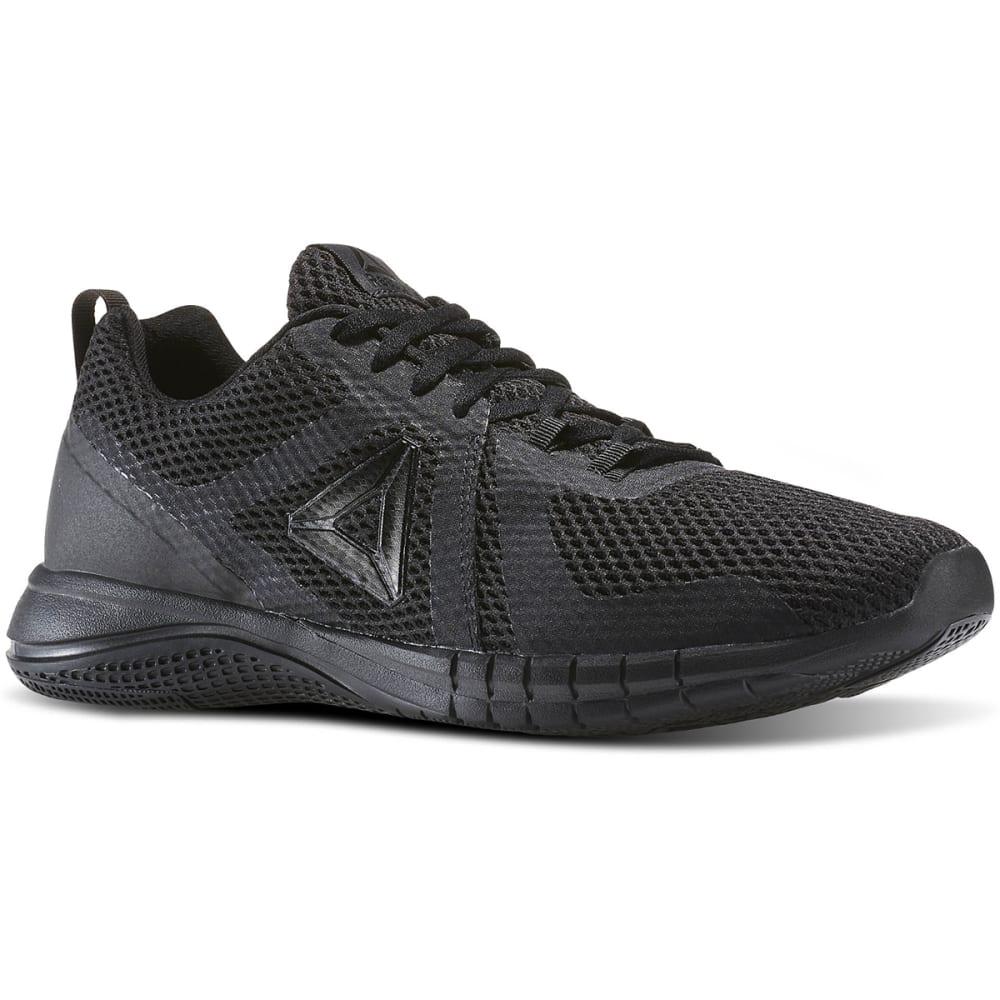REEBOK Men's Print Run 2.0 Running Shoes, Black/Coal 10.5