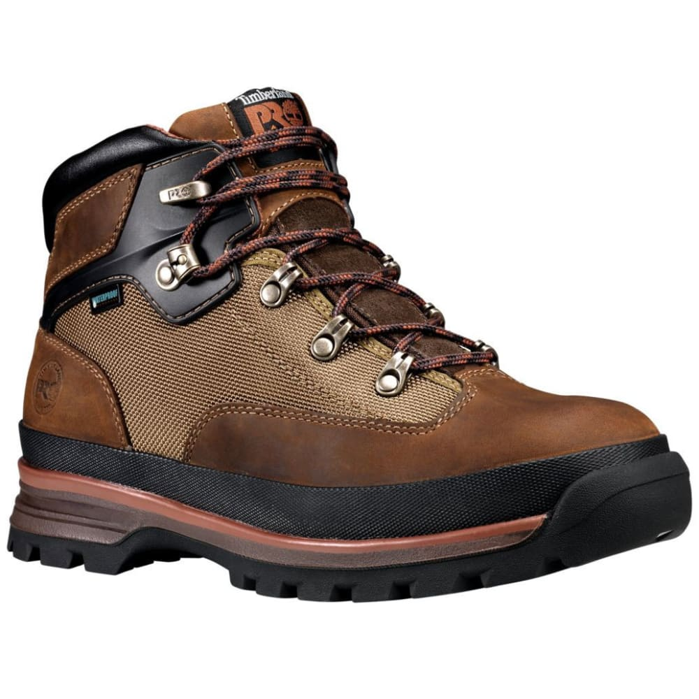 TIMBERLAND PRO Men's 6 in. Euro Hiker Soft Toe Waterproof Work Boots - 236 LIGHT /MED BROWN