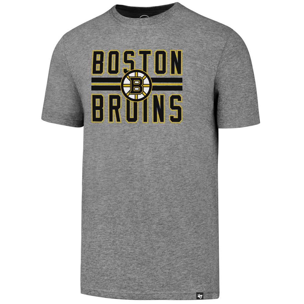 BOSTON BRUINS Men's Block Stripe '47 Club Short-Sleeve Tee - GREY