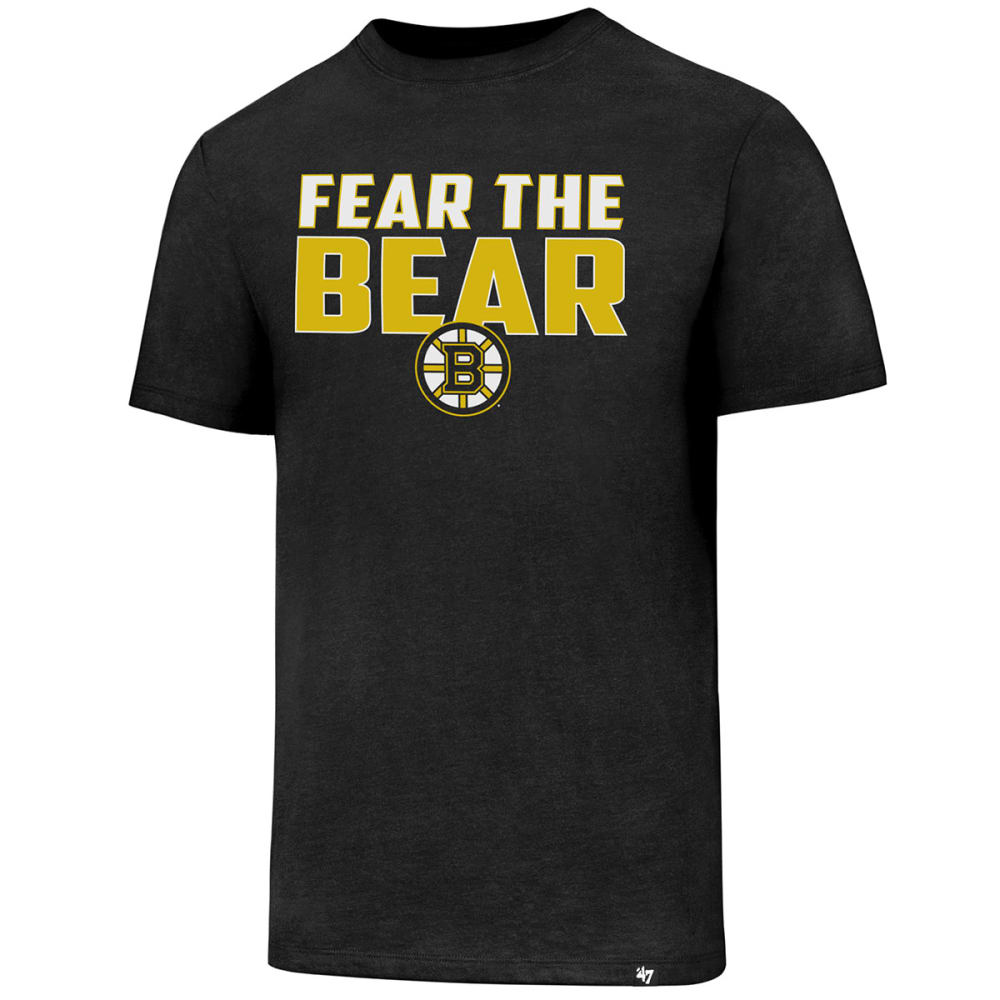 Boston Bruins Men's Fear The Bear '47 Club Short-Sleeve Tee - Black, M