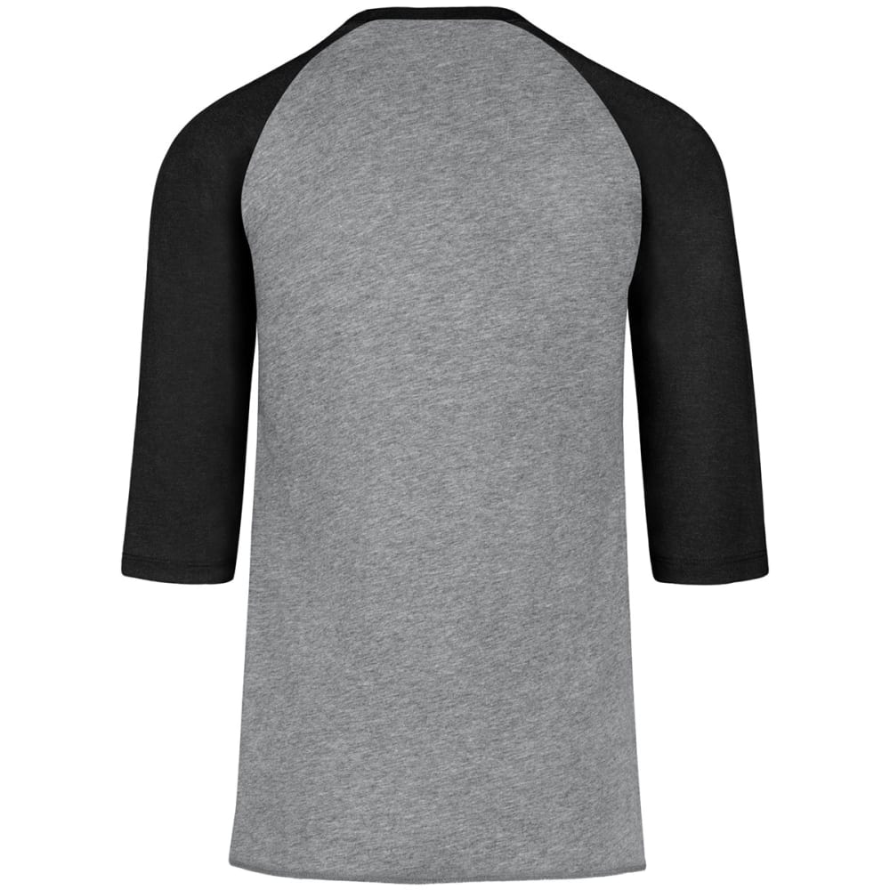 BOSTON BRUINS Men's Imprint '47 Club Raglan Long-Sleeve Tee - GREY/BLACK