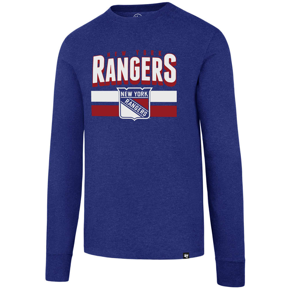 New York Rangers Men's 47 Club Long-Sleeve Tee - Blue, M