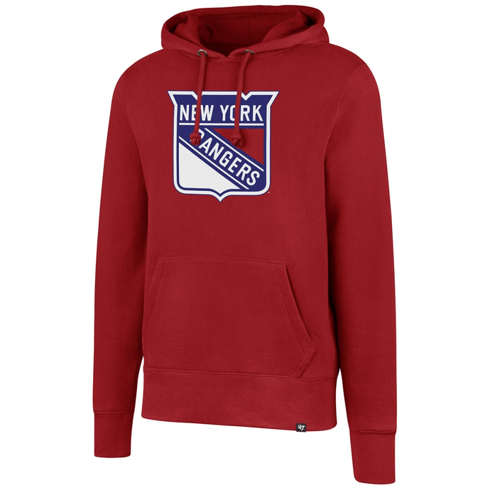 New York Rangers Men's Distressed Imprint '47 Headline Pullover Hoodie - Red, L