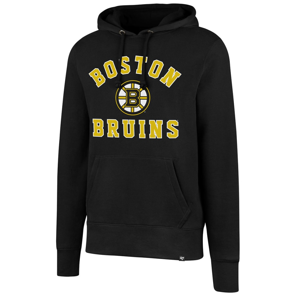 BOSTON BRUINS Men's Varsity Arch '47 Headline Pullover Hoodie - BLACK