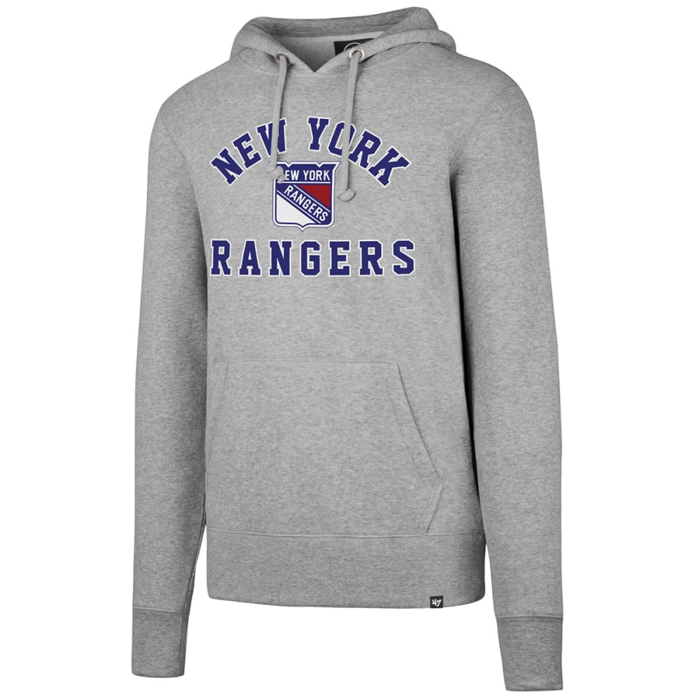 NEW YORK RANGERS Men's Varsity Arch '47 Headline Pullover Hoodie - GREY