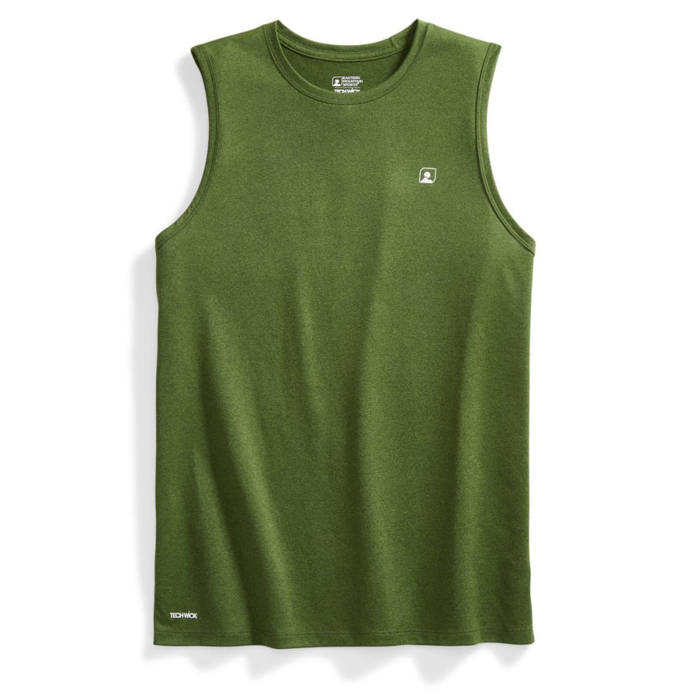 EMS® Men's Techwick® Essentials Sleeveless Tee - RIFLE GREEN/TWSTLIME