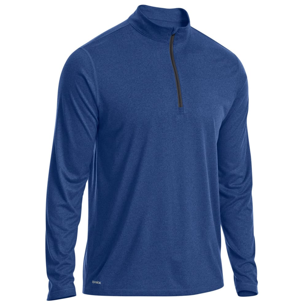 Ems Men's Techwick Essentials 1/4 Zip Pullover - Blue, S