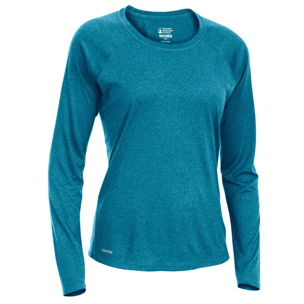 Ems Women's Techwick Essence Crew Long-Sleeve Shirt - Green, XS