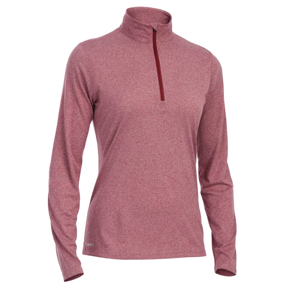 EMS Women's Techwick Essence 1/4 Zip - RED PLUM HTR