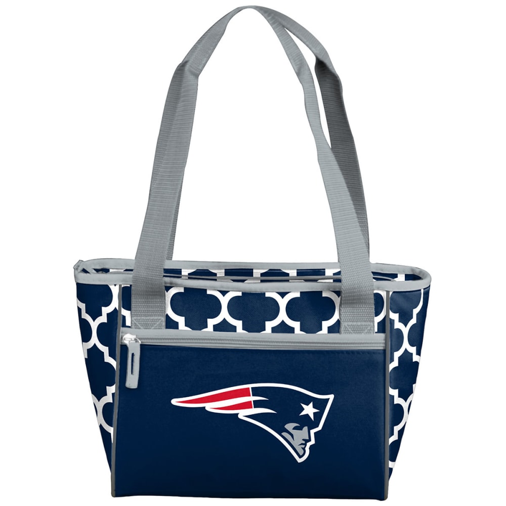 NEW ENGLAND PATRIOTS Quatrefoil 16 Can Cooler Tote - NO COLOR